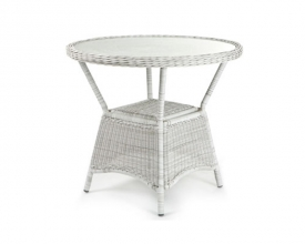 Portland Round table D: 90cm with glass top 5mm